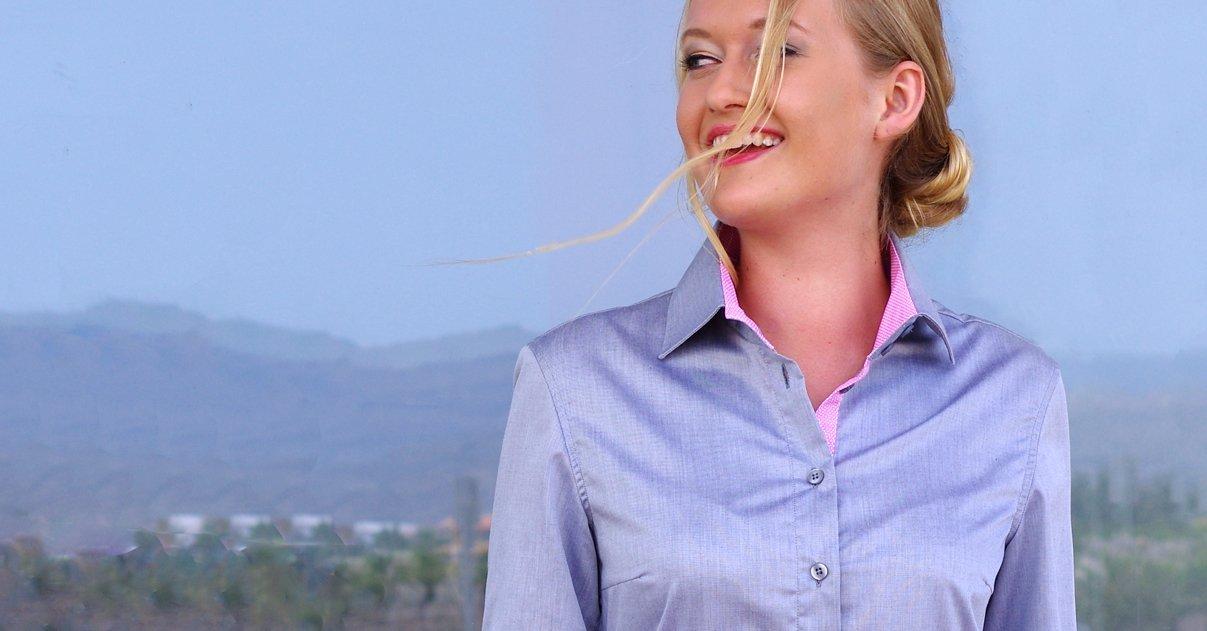 grey dress shirt for women